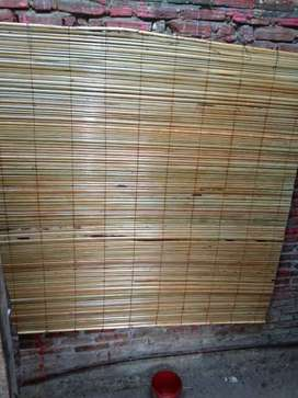Tirai isi bambu dan kayu,kulit