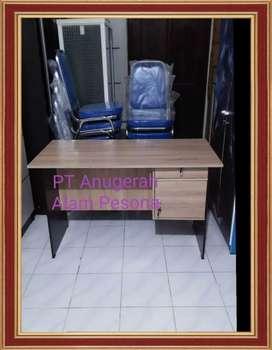 Meja Kantor 1/2 biro,kokoh tidak tipis,Meja kerja panjang 120cm