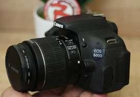 Canon 600D kit 18-55 IS II Mulus Murah normal