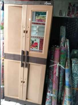 Lemari pakaian plastik murah 2 pintu bahan sangattebal dan berkualitas