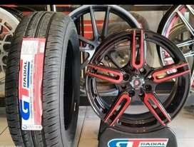 Velg+ban Ring15x7.0h8x100/114.3 et35 bisa untuk mobil Avanza Datsun go