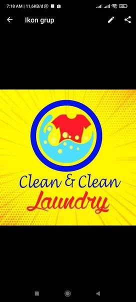 Kasir sekaligus kurir laundry