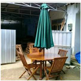 Meja payung outdoor, taman, pantai, kolam, tempat wisata, kantin, vila
