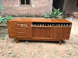 Cabinet tv minimalis kayu jati Code 0/7