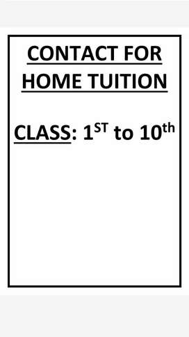 Home tuition for class 1st to 10th