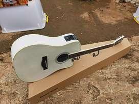 Gitar akustik elektrik gitar string gitar jumbo white