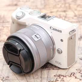 Canon M3 kit 15-45 IS STM Putih kode 1128A19