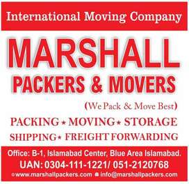 Marshall House Packing & Moving,Shifting , Transport Cargo shipping