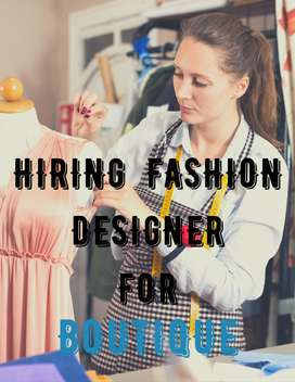 Wanted  a experienced  Fashion Designer(only for female) )