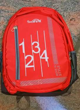 SafeX red school bag