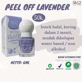 Bisa COD! Nail Polish Kutek Peel Off Halal Varian Lavender SR12