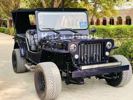 Modified open low rider willys jeeps
