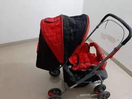 Little Pumpkin -Baby Stroller and Pram for Baby - Buggy for Kids (Red)
