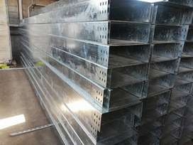 Cable Tray GI Hot Dip Galvanized Powder Coated SS Mesh Type Solid Duct