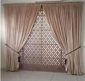 Roman blinds and curtain