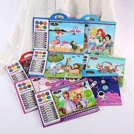 Buku Mewarnai 3D Coloring Book Kids Anak