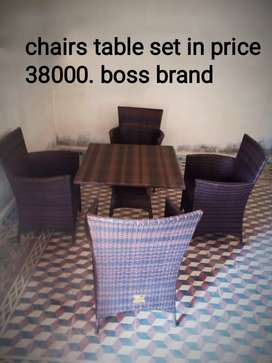 Table chairs sets for sale. Boss brand