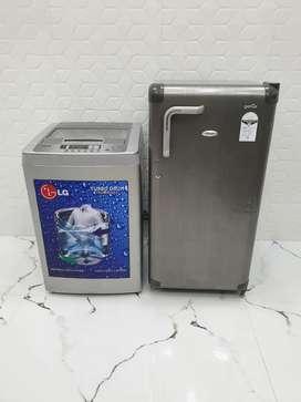 Iduf5 Whirlpool 190 ltrs refrigerator & lg  6 kg washing Machine