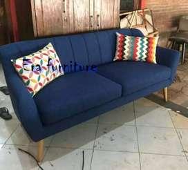 Erafurniture*sofa VINTAGE single motif sandaran lipat+bantal