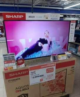 Kredit SMART TV SHARP 452T-C45AE Cukup DP 670,000 Free 1x Angsuran