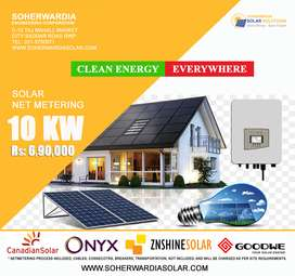 10 KW Solar Netmetering System. Reduce your electricity bill up to 100