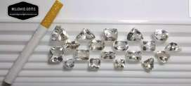 Beautiful White Topaz/ White Pukhraj, Loop Clean And top Luster.