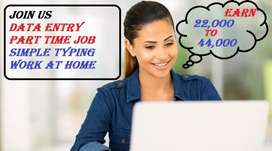 DATA ENTRY JOB PART TIME TYPING WORK