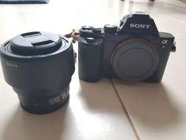 Jual cepat sony a7  + lensa FE 50mm f1.8