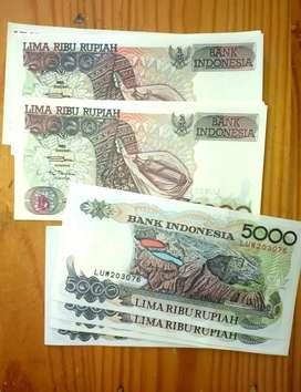 Uang Kertas lama/ kuno 5000