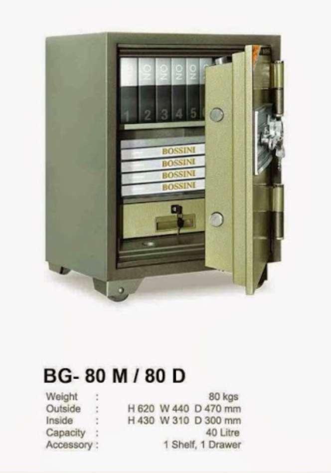 Brankas Bosini Berat 80kg Made in Thailand