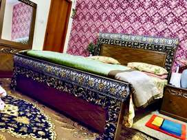 Heavy designed silver gold bedset, Lawn chairs And Table available