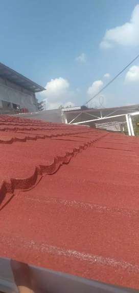 Baja ringan+genteng metal+atap galvalume+pasang