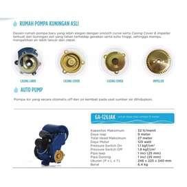Pompa air, mesin air panasonic otomatis 125 watt, tipe 126 jak