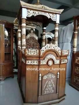 Mimbar kubah masjid khotbah .