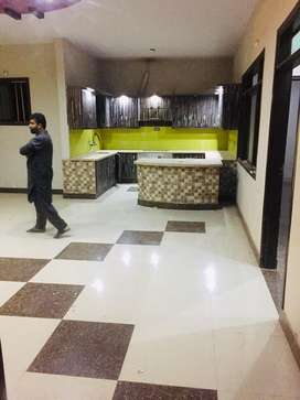 portion in block A North Nazimbad for rent