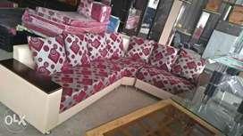 Stock clearance unused l shape sofa set