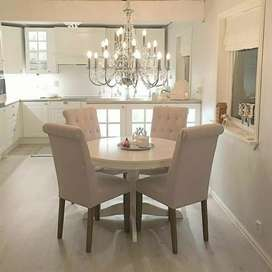 Meja kursi makan satu set langsung pengrajin
