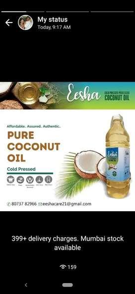 Cold pressed/ organic coconut oil