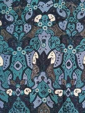 Batik Tulis Katun Pria - Coral Blue (sudah ada polanya)