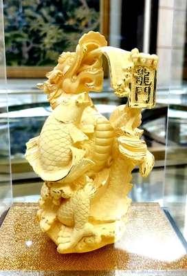 LuvDee Patung Pajangan 24K Naga Ikan kado souvenir imlek
