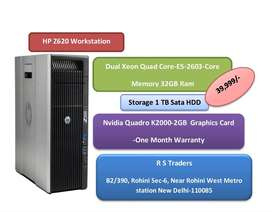 HP Z620 -HIGH END Rendering-workstation--Dual xeon quad cores/32gb ram