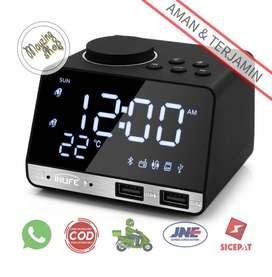 Inlife K11 Jam Meja Bluetooth Speaker Alarm Clock