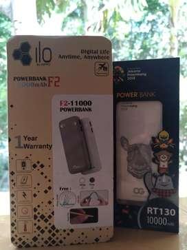 Powerbank murah meriah hippo ilo 11000 mAh & robot RT130 10000 mAh
