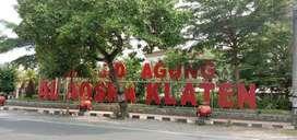 Lahan Perumahan Klaten Area Pusat Kota SHM Perkarangan