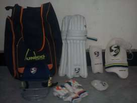 Cricket kit with bag and without bat