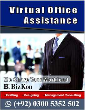 Virtual Office Assistance Available for Drafting, Designing & Tenders