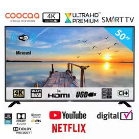 TERMURAH! COOCAA PREMIUM UHD 4K 50 INCH 50UB5100 SMART TV NEFLIX DOLBY