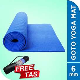 Matras Alas Yoga Senam Mat 6 mm Anti Slip Outdoor Indoor Free Bag