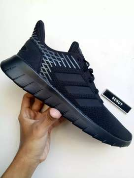 Adidas Asweerun Black F36333 Sepatu Running Olahraga Pria Original