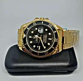 rolex submarine black gold date on diameter big